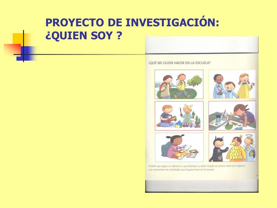 PROYECTO DE INVESTIGACIÓN: ¿QUIEN SOY