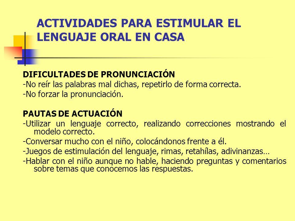 ACTIVIDADES PARA ESTIMULAR EL LENGUAJE ORAL EN CASA