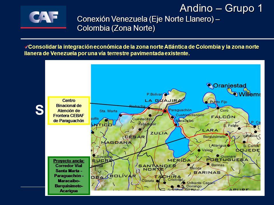 Andino – Grupo 1 Conexión Venezuela (Eje Norte Llanero) – Colombia (Zona Norte)