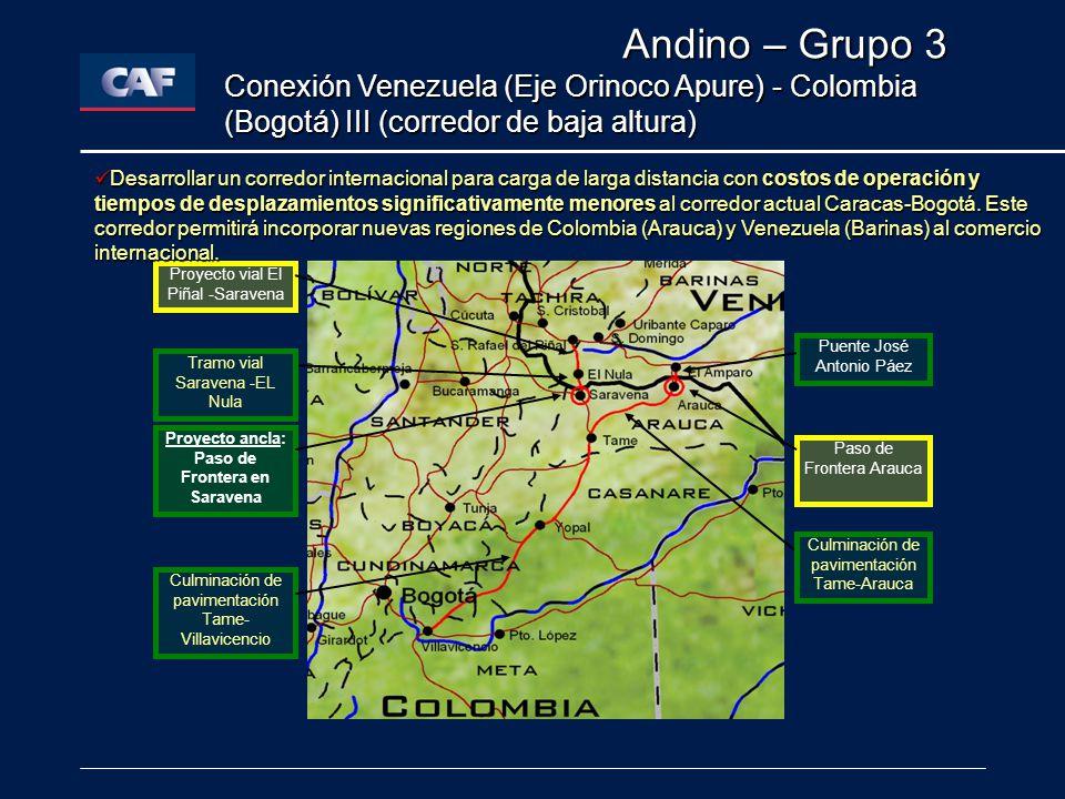 Proyecto ancla: Paso de Frontera en Saravena