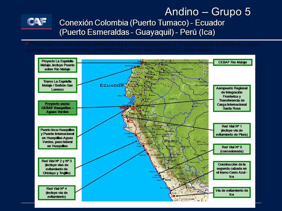 Andino – Grupo 5 Conexión Colombia (Puerto Tumaco) - Ecuador (Puerto Esmeraldas - Guayaquil) - Perú (Ica)