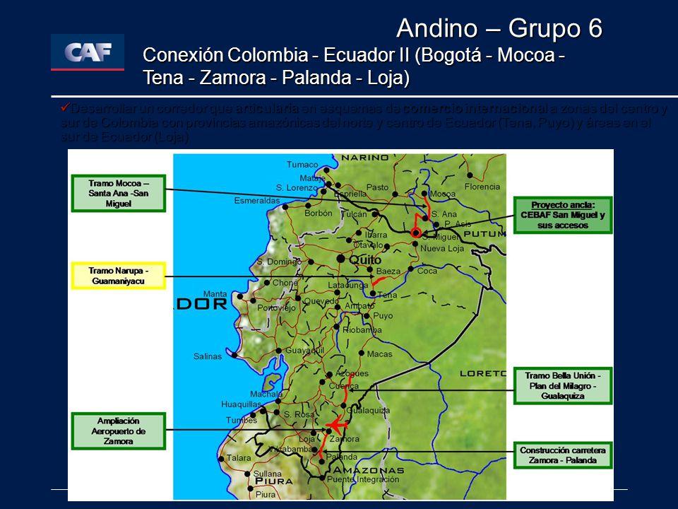 Andino – Grupo 6 Conexión Colombia - Ecuador II (Bogotá - Mocoa - Tena - Zamora - Palanda - Loja)
