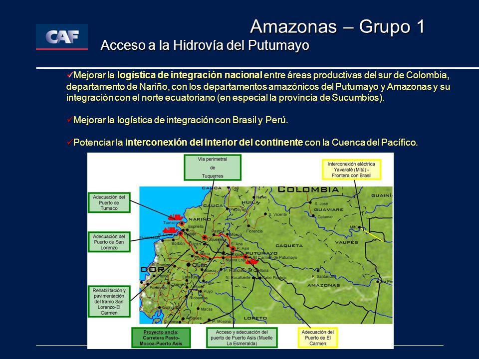 Amazonas – Grupo 1 Acceso a la Hidrovía del Putumayo