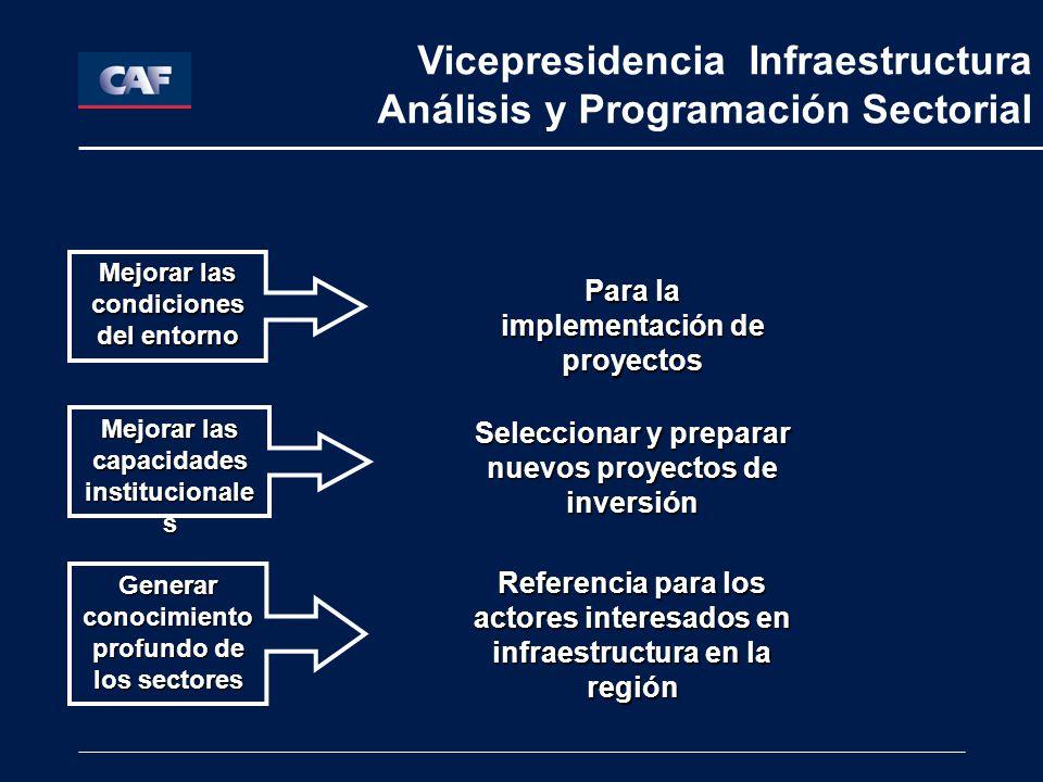 Vicepresidencia Infraestructura Análisis y Programación Sectorial