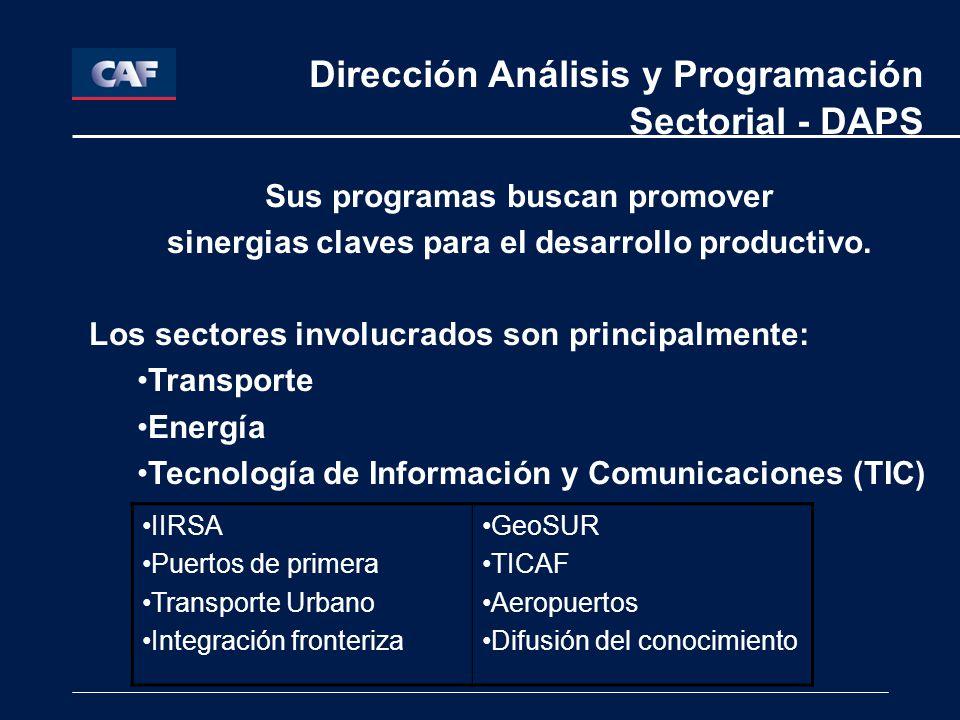 Dirección Análisis y Programación Sectorial - DAPS