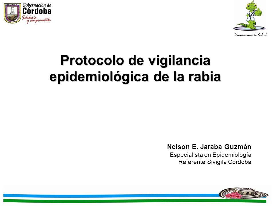 Protocolo de vigilancia epidemiológica de la rabia
