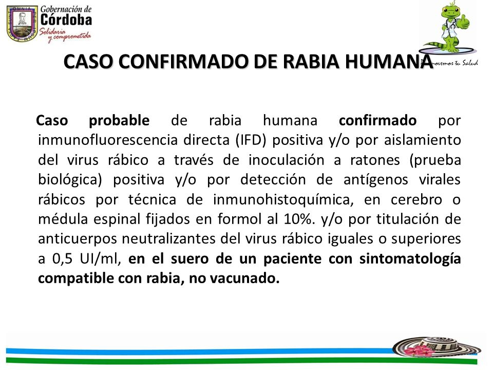 CASO CONFIRMADO DE RABIA HUMANA
