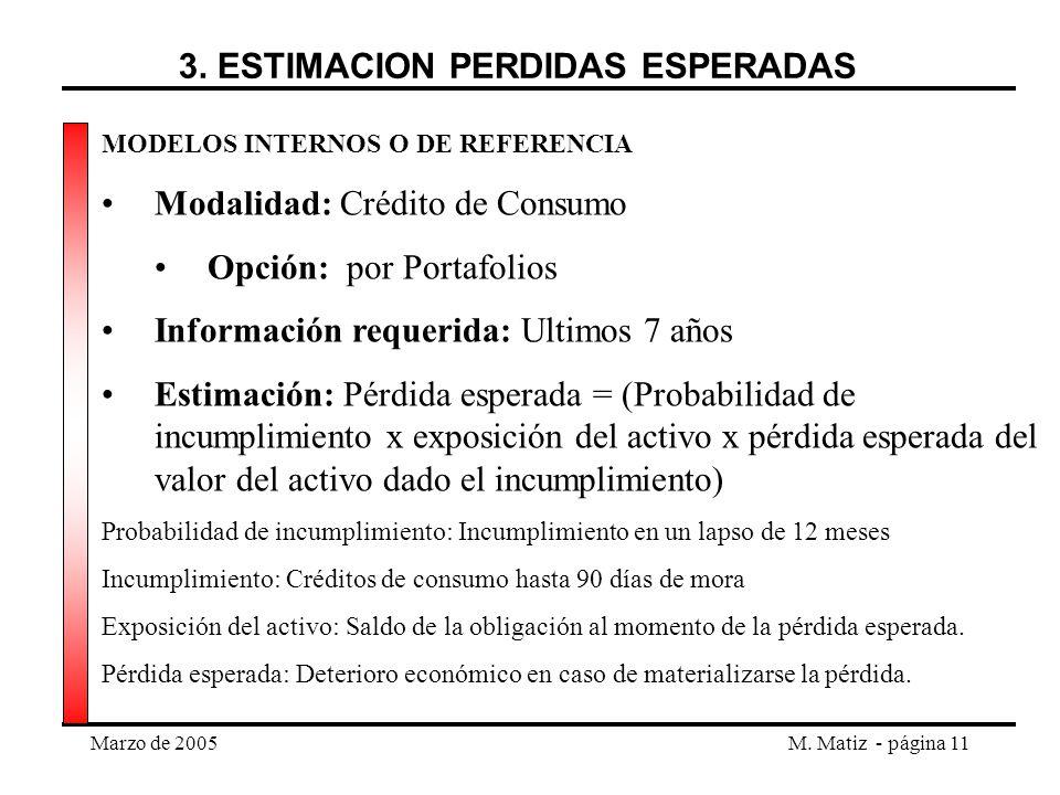 3. ESTIMACION PERDIDAS ESPERADAS