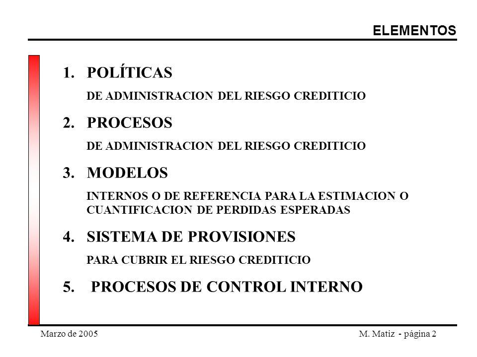SISTEMA DE PROVISIONES