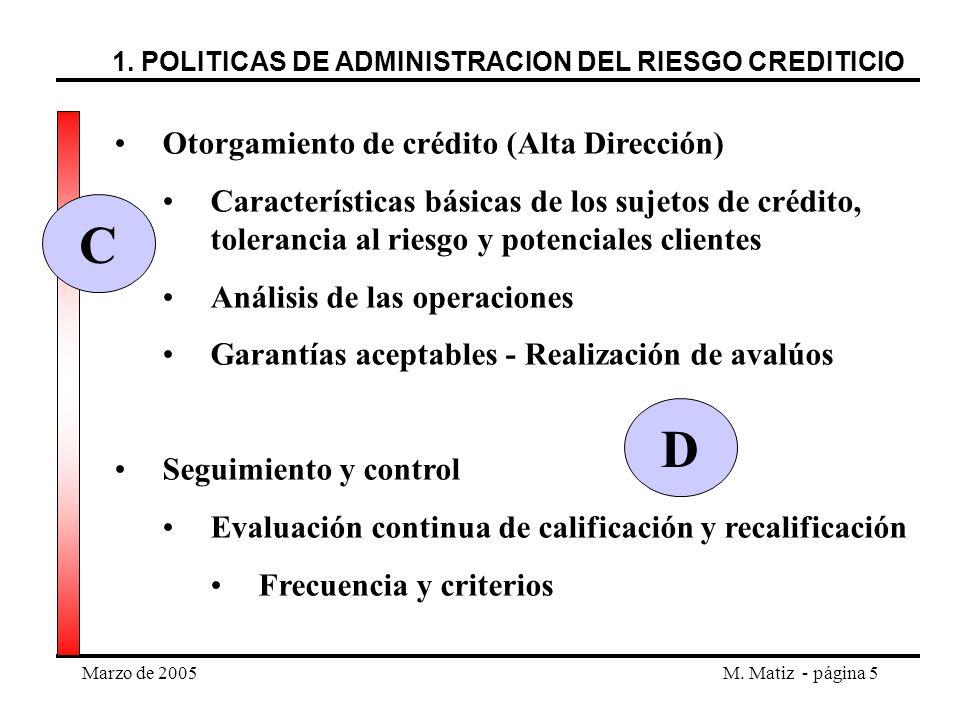 C D Otorgamiento de crédito (Alta Dirección)