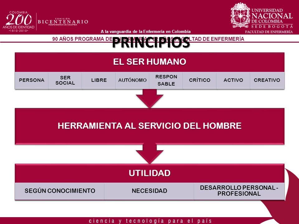 PRINCIPIOS DESARROLLO PERSONAL -PROFESIONAL SEGÚN CONOCIMIENTO