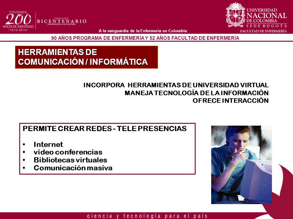 HERRAMIENTAS DE COMUNICACIÓN / INFORMÁTICA