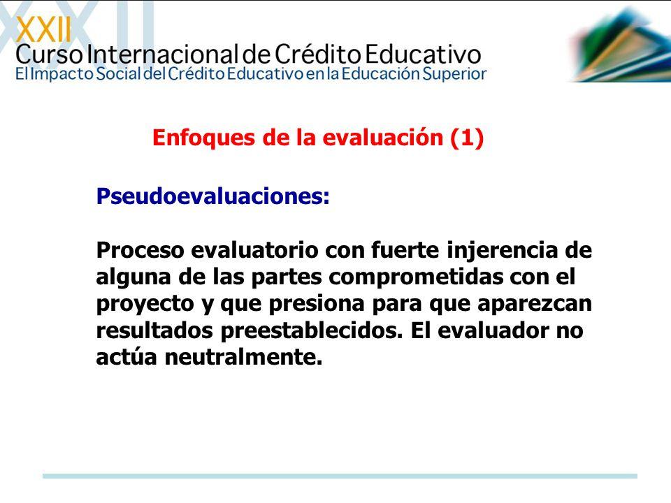 Enfoques de la evaluación (1)