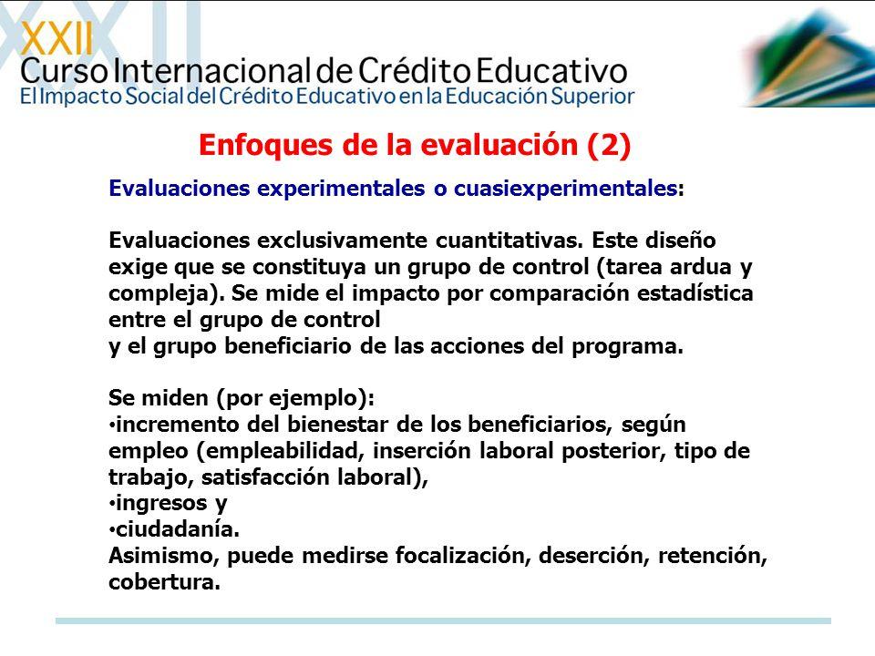 Enfoques de la evaluación (2)