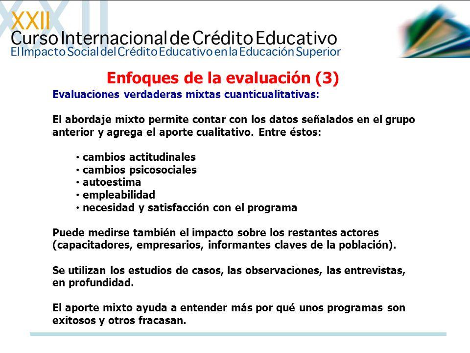 Enfoques de la evaluación (3)