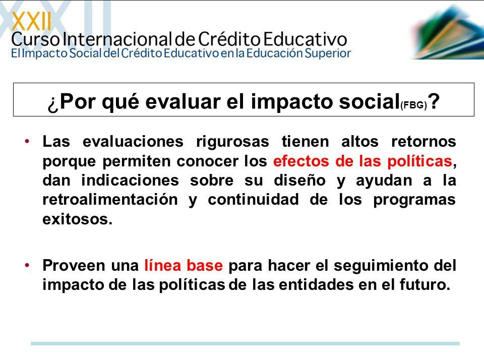 ¿Por qué evaluar el impacto social(FBG)