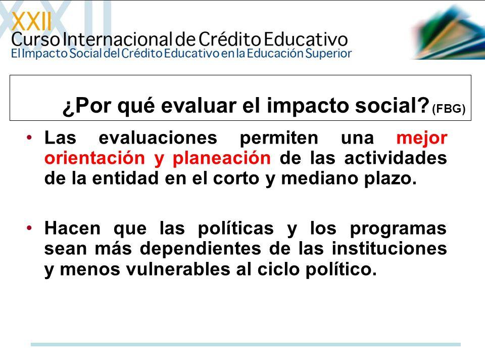 ¿Por qué evaluar el impacto social (FBG)