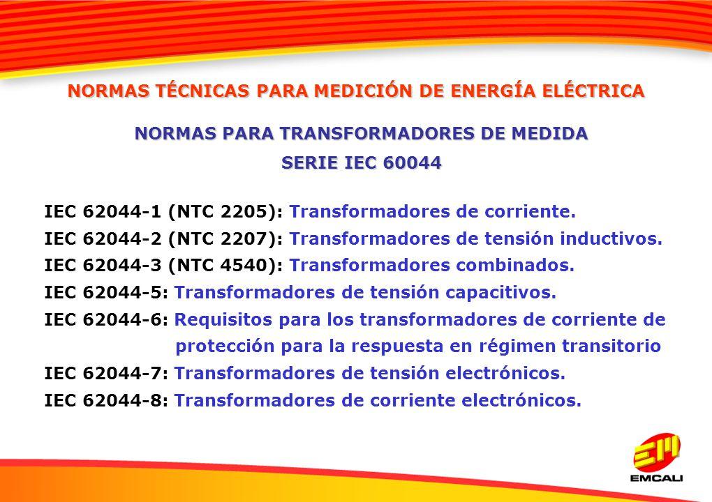 NORMAS PARA TRANSFORMADORES DE MEDIDA