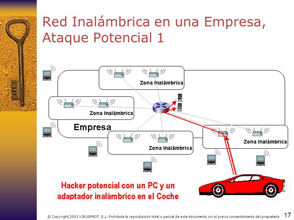 Red Inalámbrica en una Empresa, Ataque Potencial 1