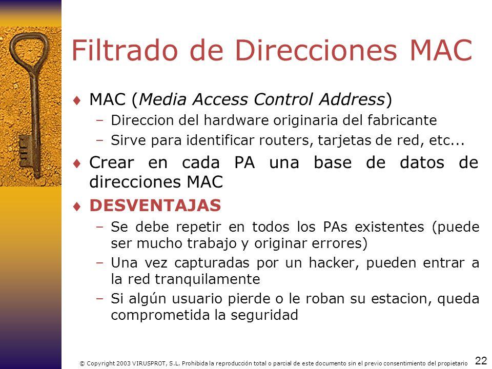 Filtrado de Direcciones MAC