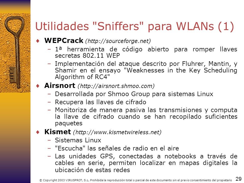 Utilidades Sniffers para WLANs (1)
