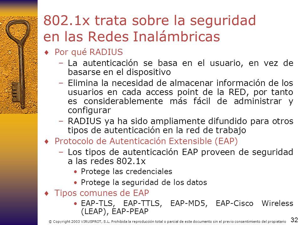 802.1x trata sobre la seguridad en las Redes Inalámbricas