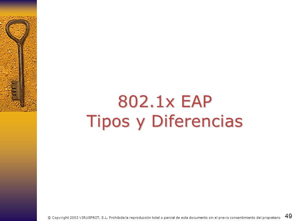 802.1x EAP Tipos y Diferencias