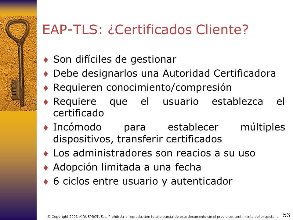 EAP-TLS: ¿Certificados Cliente