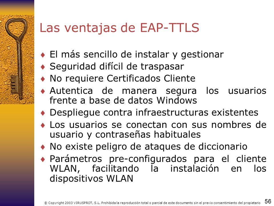 Las ventajas de EAP-TTLS