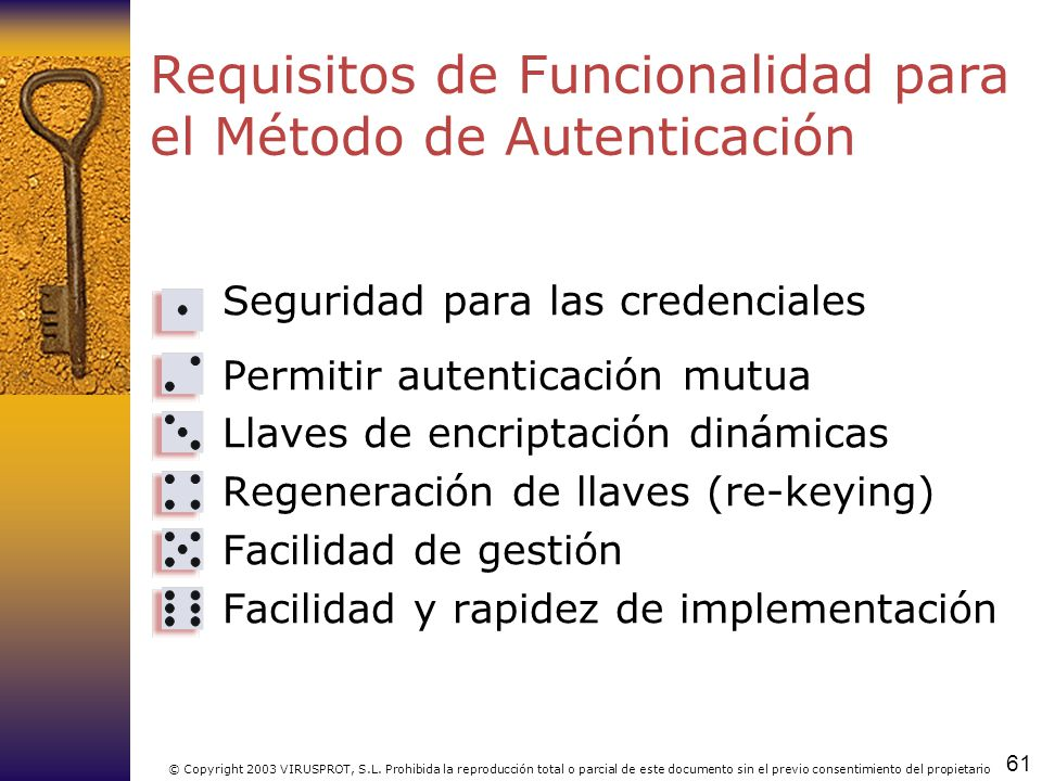 Requisitos de Funcionalidad para el Método de Autenticación