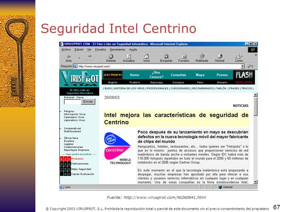 Seguridad Intel Centrino