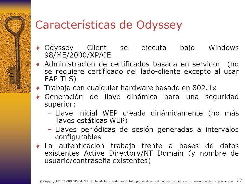Características de Odyssey