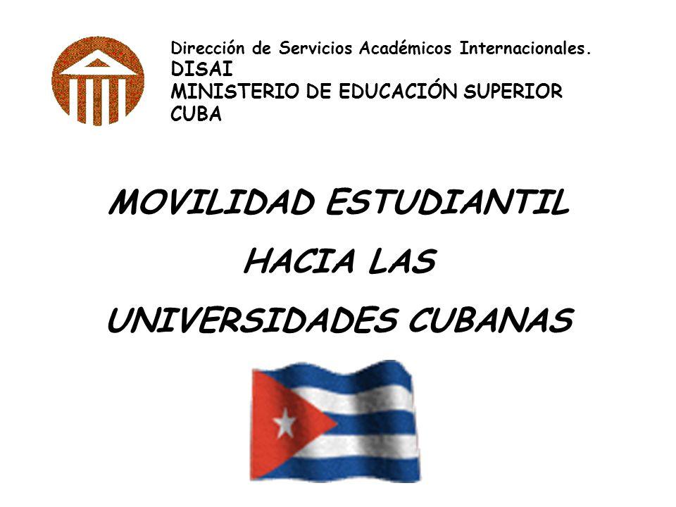 MOVILIDAD ESTUDIANTIL UNIVERSIDADES CUBANAS