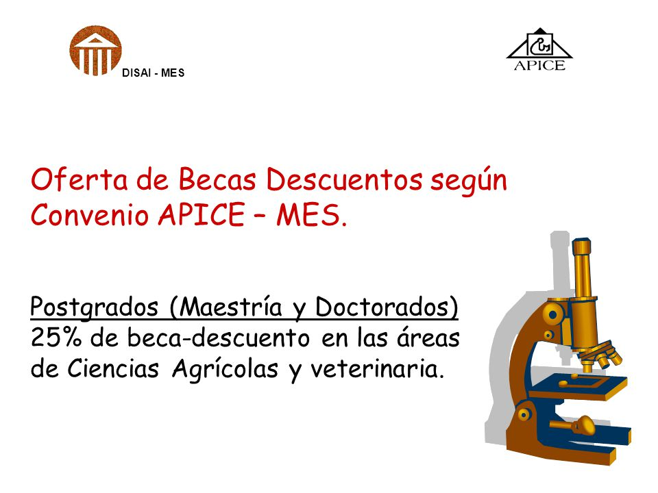 Oferta de Becas Descuentos según Convenio APICE – MES.