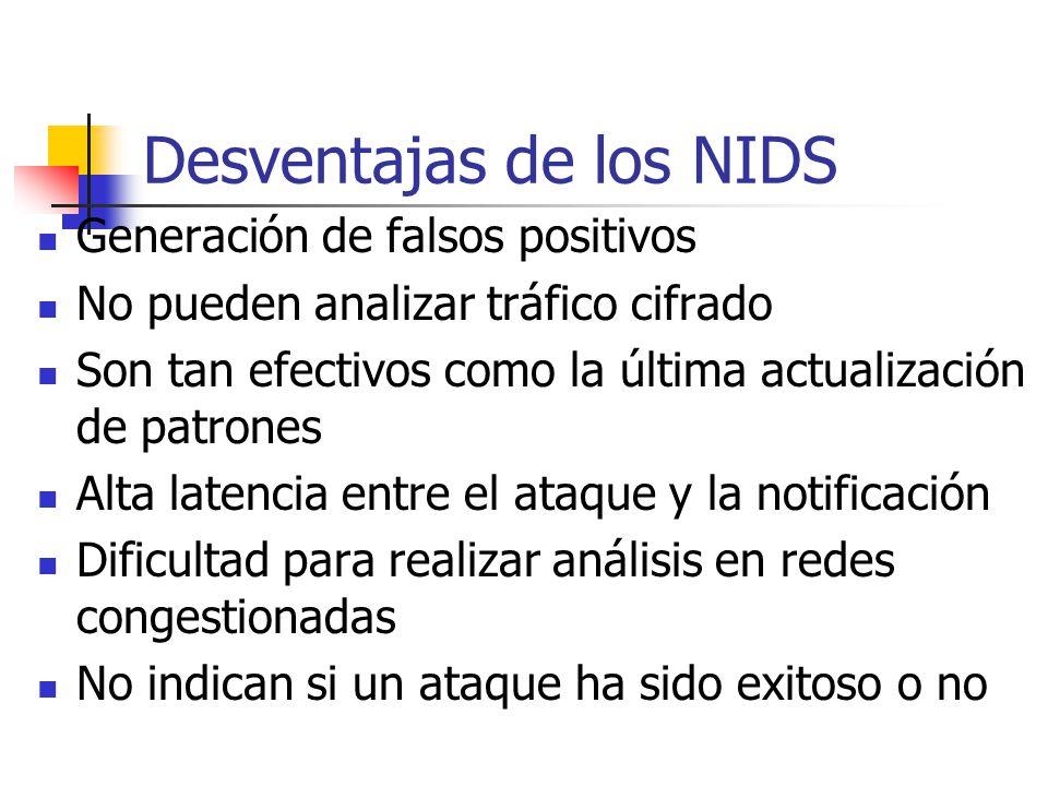 Desventajas de los NIDS