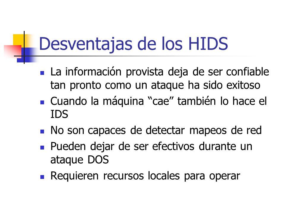 Desventajas de los HIDS