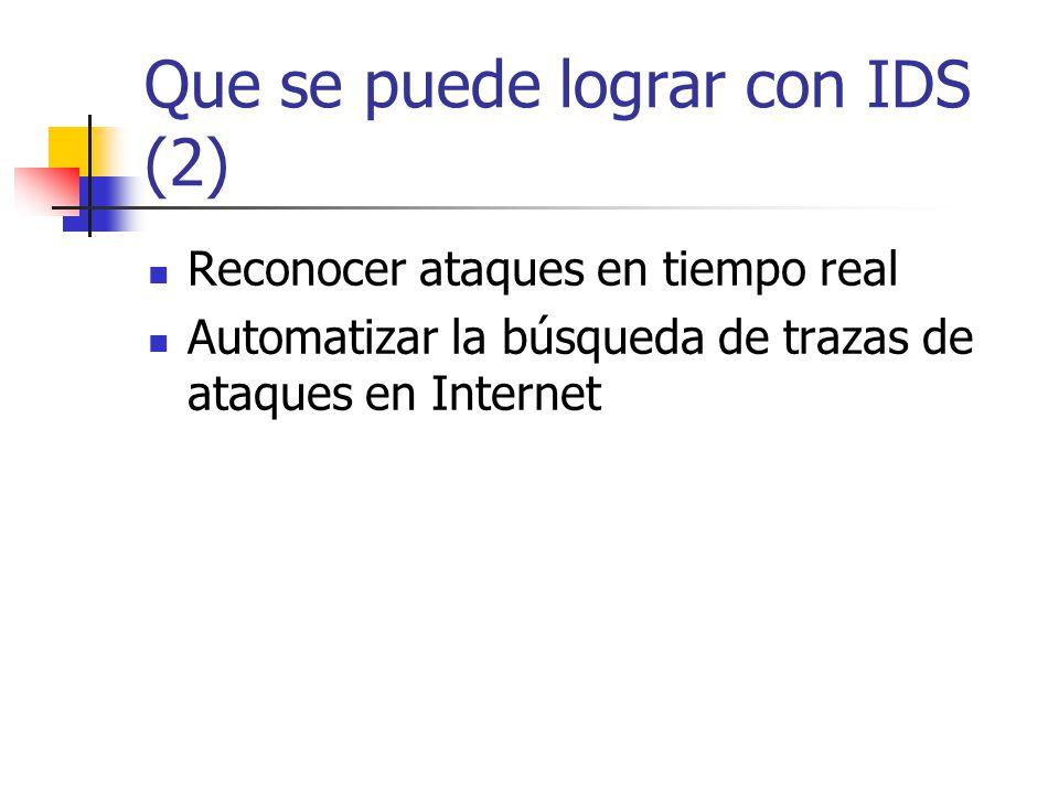 Que se puede lograr con IDS (2)
