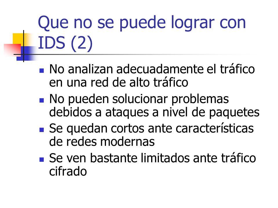 Que no se puede lograr con IDS (2)