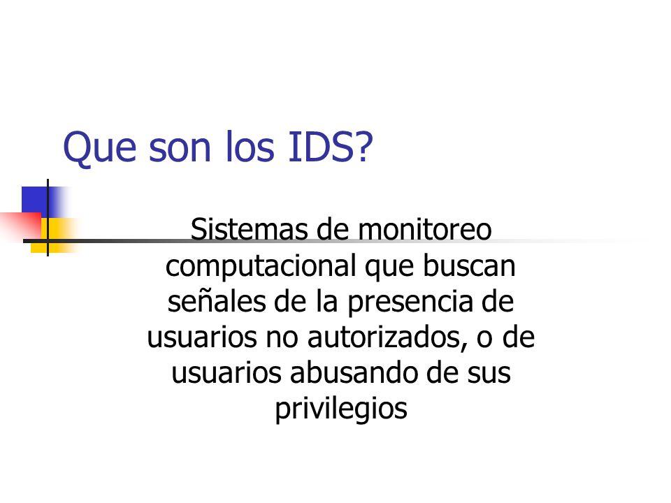 Que son los IDS