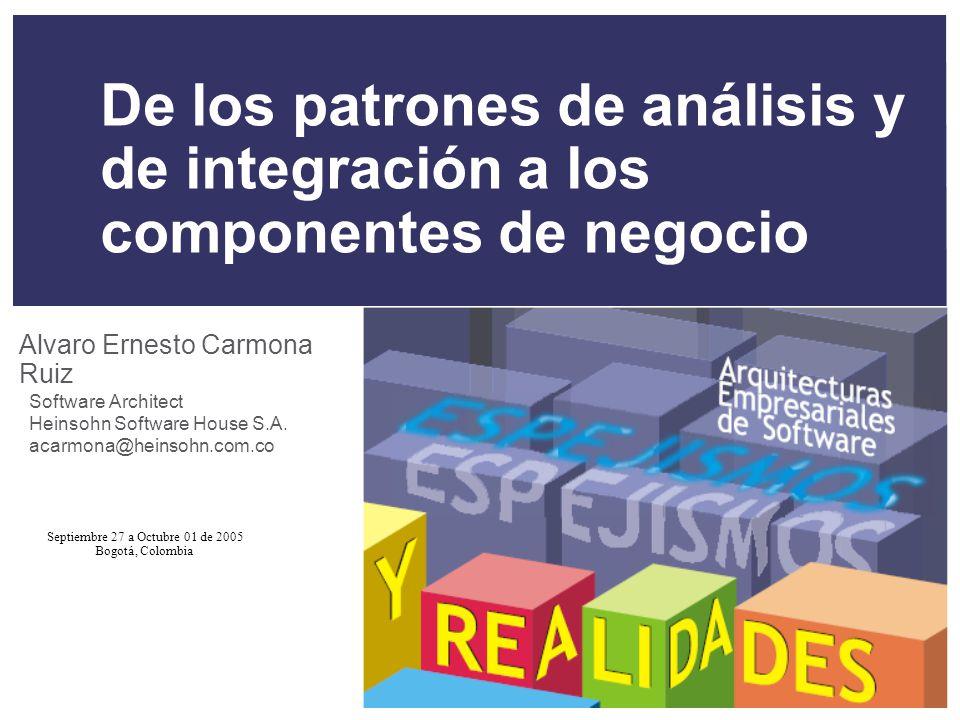 De los patrones de análisis y de integración a los componentes de negocio
