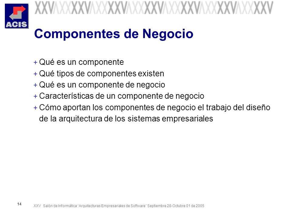 Componentes de Negocio