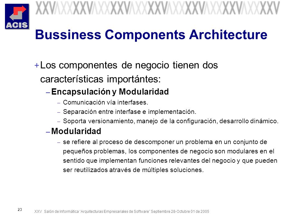 Bussiness Components Architecture
