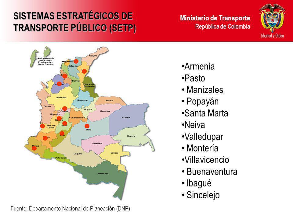 SISTEMAS ESTRATÉGICOS DE TRANSPORTE PÚBLICO (SETP)