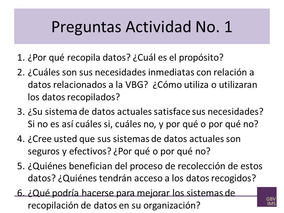 Preguntas Actividad No. 1