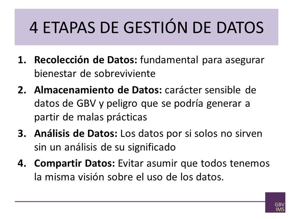 4 ETAPAS DE GESTIÓN DE DATOS