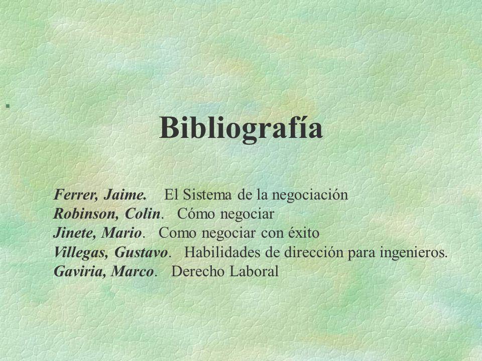 Bibliografía Ferrer, Jaime. El Sistema de la negociación