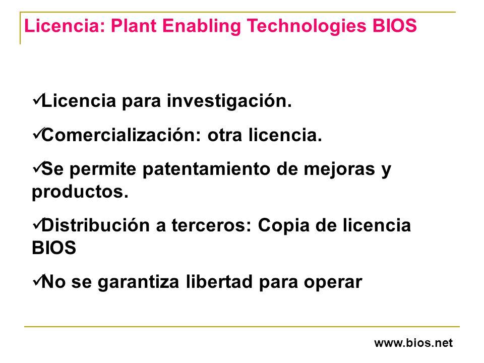 Licencia: Plant Enabling Technologies BIOS