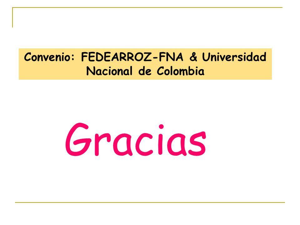Convenio: FEDEARROZ-FNA & Universidad Nacional de Colombia