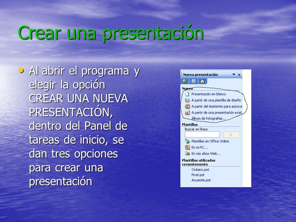 Crear una presentación