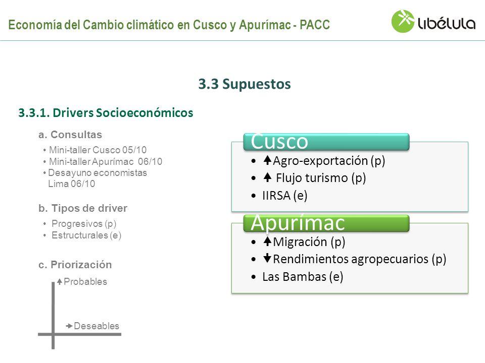 Cusco Apurímac 3.3 Supuestos